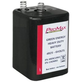 Batteria 6V per Lampeggiante Stradale 4R25 PROMAX